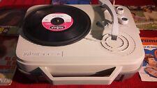 Giradischi Fonovaligia vintage anni 60 LESA Andessy colore grigio luna + dischi