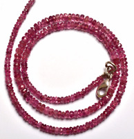 """Z-1231 Pink Tourmaline Natural Gemstone Rondelle Faceted Beads 4mm 12/"""" Strand"""