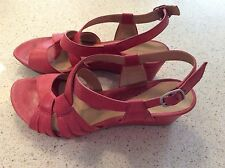 Wedge Leather Wide (C, D, W) Solid Heels for Women
