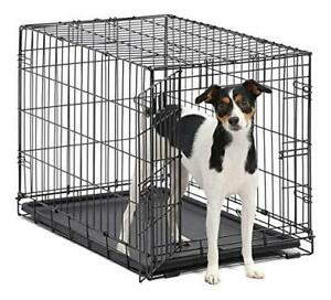 Dog Crate   MidWest ICrate 30 Inch Folding Metal Dog Crate w/ Divider Panel,