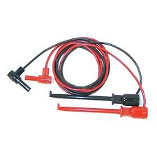 "Macro-Hook XJL to Right Angle Insulated Banana Plug, 48"" Test Lead Set New!"