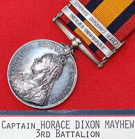 CAPTAIN ROYAL WELSH FUSILIERS PRE WW1 BRITISH ARMY QUEENS SOUTH AFRICA MEDAL QSA