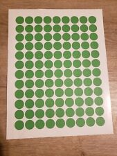 108 Green Removable Blank garage yard sale stickers labels tags Sale!