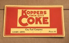Vintage Koppers Twin City Coke Fuel Company Advertising Ink Blotter