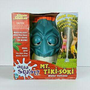 Super Soaker Mt. Tiki-Soki Water Volcano Sprinkler Aqua Squirtz Hasbro NEW