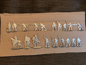 Flat Metal Toy Soldiers 32mm American Civil War Possibly? Unpainted. Int