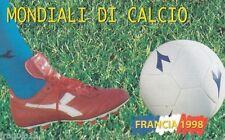 MONDIALI DI CALCIO SCHEDA NUOVA DA LIRE 3.000 FRANCIA 1998 SAN MARINO PERFETTA