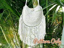 DIY CROCHET BAG PATTERN Tassel Crossbody Shoulder Bag Paper Patterns 0140