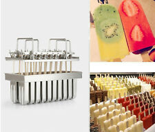 20pcs (Type 1) Stainless Steel Molds for Ice Lolly Popsicle Ice Cream Pops Bars