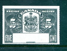 Canada 5 Cigars Excise Proof / SPECIMEN - No Control #  (Lot #RP24)