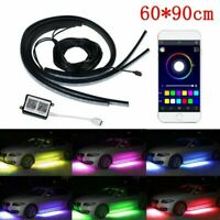 4 in 1 RGB LED Under Car Tube Strip Underglow body Neon Light Wireless Control