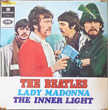 "BEATLES- lady madonna - rare israelI 1 st. pressing 7"" P/S 1968 parlophone"