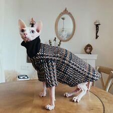 Neck Warming Hairless Cat Sweater Cat Winter Clothes Turtleneck Sweater