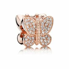 Authentic Pandora Rose Gold Collection Sparkling BUTTERFLY CHARM BEAD 781257CZ