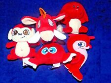 Mcdonalds Neopets 5 Red Lot Kacheek Mynci Flotsam Stuffed Doll Plush Figure Toys
