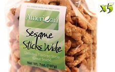 35 Oz Gourmet Style Bags of Delicious Wide Sesame Sticks [2+ lbs.]