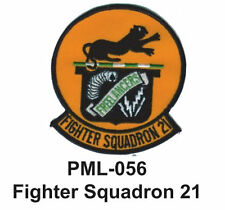 """FIGHTER SQUADRON 21 Embroidered Military Large Patch, 4"""""""