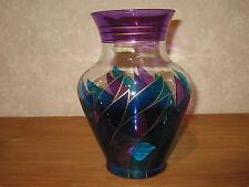 *NEW* Vase bleu flamme H.32cm
