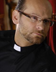 CLERGY CLERICAL VICAR PRIEST SHIRT BLACK TUNNEL COLLAR  SHORT SLEEVE