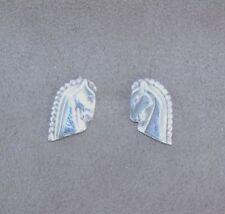 Equestrian Earrings 925 Horse Heads Sterling Silver Stud Studs Jewellery Equestr