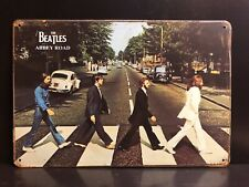 THE BEATLES ABBEY ROAD 1969 POSTER VINTAGE RETRO STYLE LARGE METAL SIGN 30X40 CM