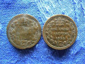 UK 1/3 FARTHING 1866 bent, 1876, KM750