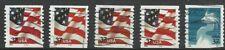 Estados Unidos. 5 sellos con pie de imprenta especial. Raros [R7309]