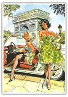 Ex-libris MEYNET BD Pin up Paris Arc de Triomphe 2012 numéroté signé format A4