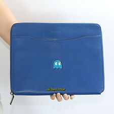 NWT Coach Pac Man Leather Tech Business Document Lap Top Case F56058 Blue New