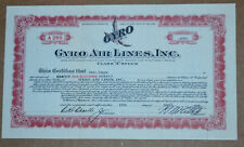 Gyro Air Lines, Inc. vintage 1934 aviation stock certificate