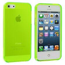 Cover per Apple iPhone 4 4s Paraurti MORBIDA in Silicone trasparente Verde Lime
