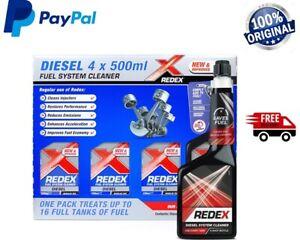 Redex DIESEL One Shot 4 x 500ml Fuel Engine Cleaner Injection Redex Red