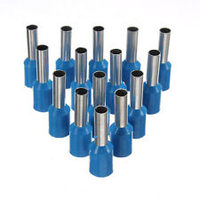 100Pcs Wire Copper Crimp Connector Insulated Cord Pin End Terminals AWG14 Blue