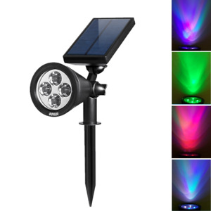 AMIR-Power Solar 4 LED Landscape Spotlights Waterproof Outdoor&Garden Lawn Lamp