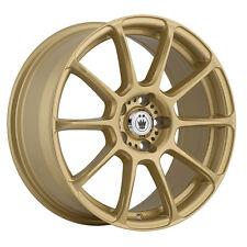 "4-NEW Konig 41G Runlite 16x7.5 5x114.3/5x4.5""  Gold Wheels Rims"