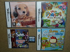 JOB LOT 4 NINTENDO DS DSI GAMES Nintendogs Viva Pinata Super Scribblenaut Sims 2