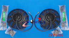 2* 9 inch 12 V Thermo Radiator Cooling Electric Fan+ Mounting Kits