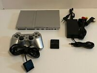 Sony playstation 2 slim console, Silver Ps2 & Controller Bundle SCPH-79001