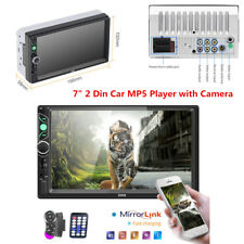 Double 2 Din Car Stereo MP5 Player Audio Radio Bluetooth FM USB AUX +Rear Camera