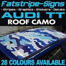 AUDI TT TETTO CAMO grafica Adesivi Strisce Decalcomanie Mimetica TDI 1.6 leghe auto