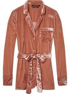 Scotch & Soda Vintage Inspired Rose Velvet Jacket Pants Loungewear 2 Pieces Sz S