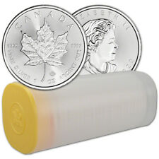2020 Canada Silver Maple Leaf - 1 oz - $5 - 1 Roll - Twenty-five 25 Bu Coins