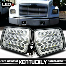 """Pair 7""""X6"""" LED Headlight HID Light Bulbs Crystal Clear Sealed Beam Headlamp"""