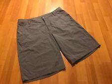 Lululemon Shorts Men's Size 38 Gray Plaid Design Black Lulu Logo