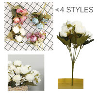 1x Bouquet Artificial Fake Peony Silk Flower Bridal Hydrangea Wedding Home Decor
