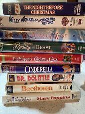 VHS Lot Of 9 Kids, Good Clean Fun, Christmas, Disney, Hallmark, WB, Muppets