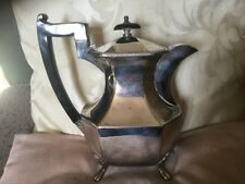 Old/Antique English Shaped Silver Plated Coffee Pot Of Attractive Panelled Form