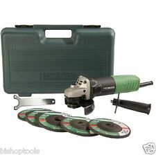HITACHI G12SR4 6.2-Amp 4-1/2-Inch Angle Grinder with 5 Abrasive Wheels