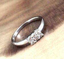 9ct White Gold Diamond Cluster Engagement Ring SALE Was £380