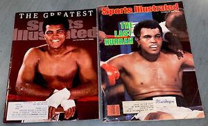 Muhammad Ali Boxing Sports Illustrated Magazines 10/13/80 & 6/13/16 Cassius Clay
